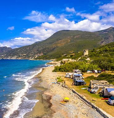 Partez en vacances en camping en Corse